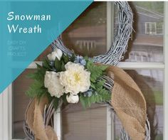 My sister and I finally got around to our easy diy crafts project that we had been talking about …a Grapevine Snowman Wreath.   It really is easy and fun to cre…