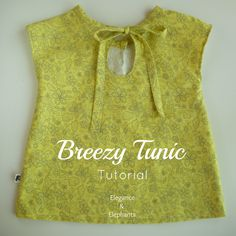 Elegance & Elephants: Breezy Tunic Tutorial  Very easy to make my size and minus the pouch pocket!