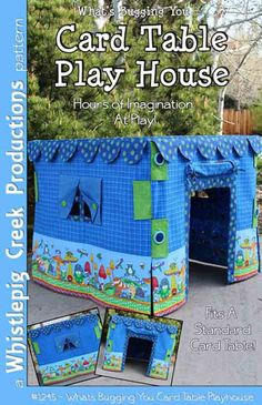 Card Table Play House Sewing Pattern by WhistlepigCreek on Etsy, $9.50