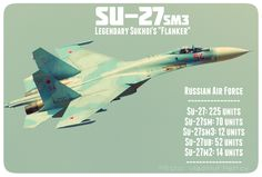 """Legendary Su-27sm3 """"Flanker"""" (deep modernization of Su-27). Heavy supermaneuverable fighter - the most numerous fighter of the Russian Air Force. More than 809 Su-27 and its modifications had been produced since 1981. #Su27sm3 #Su27"""