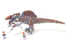 Lego spinosaurus, get that thing under control! Lego Dinosaurus, Lego Jurassic World, Jurassic Park, Legos, Cool Nerf Guns, Pokemon Fusion Art, Frozen Toys, Lego Display, Lego Animals