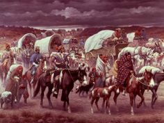 "The Choctaw Indians were the first to travel the ""Trail of Tears"" in 1831, followed by the Cherokee.  This picture thanks to danielnpaul.com"