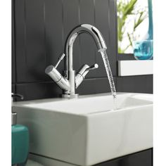A basin mixer will give you a more controlled temperature as it blends the hot and cold water before it exits the faucet. http://www.victorianplumbing.co.uk/Ultra-Series-2-Mono-Basin-Mixer-with-Swivel-Spout-Pop-up-Waste-Chrome-FJ315.aspx