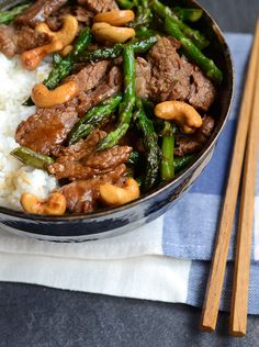 Garlic Beef and Asparagus Stir-fry, from Appetite for China