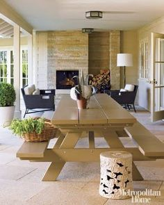outdoor chic, great picnic table