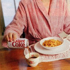 Beverages Ahh, that cup of… Coke? Watch out, Folger's and Maxwell House. Coca-Cola is circling the breakfast . Diet Pepsi, Breakfast Of Champions, Get Healthy, How To Lose Weight Fast, Coca Cola, Love Food, Funny, Hilarious, The Best