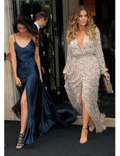 naimabarcelona:  Kendall Jenner and Khloe Kardashian leaving the Four Seasons George V Hotel in Paris.