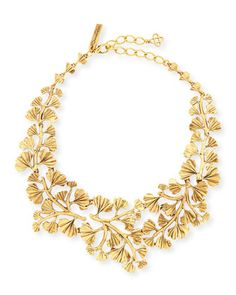 Gold-Plated Fern Necklace by Oscar de la Renta at Neiman Marcus, $595.