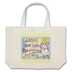 Retired Nurse Angel Tote Bag http://www.zazzle.com/retired_nurse_angel_art_cards_gifts_tote_bag-149280371412956183?rf=238282136580680600*