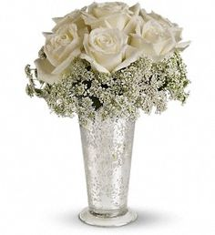 Lovely roses and queen annes lace!!