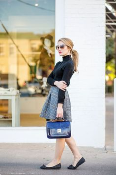 fall plaid skirt | a lonestar state of southern
