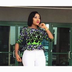 Upgrade your wardrobe staple by adding a colorful print into your closet!Every lady needs one or two or more Ankara tops to spice up her look whenever she steps out. The enjoyable thing about this fashion staple is that you can switch up your look by completing it with jean trousers or skirts...