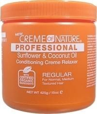 Creme of Nature Professional Relaxer Jar Sunflower and Coconut Oil Regular 15 oz
