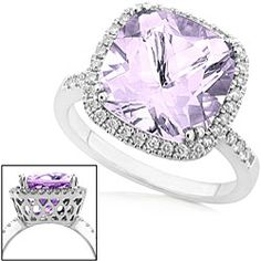my absolute dream ring except not a color just regular diamond - Purple Wedding Rings