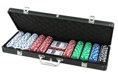 SET POKER 500 FICHES VALIGIA RIGH. Set da poker da 500 fiches, grammatura 11.50 da gara non numerate 5 dadi,  due mazzi di carte,  gettone dealer-in valigetta nera