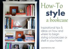 Add some visual interest and organization to your bookcase with this simple technique. Via SAS Interiors