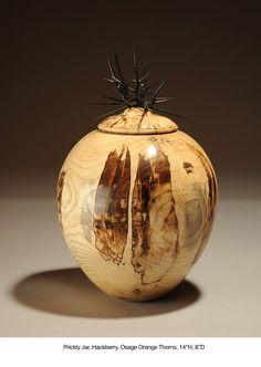 Gl Vase Melted Over Wood on