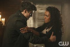 """The Originals -- """"The Devil is Damned"""" -- Image Number: OR213a_0266.jpg -- Pictured (L-R): Daniel Sharman as Kaleb and Maisie Richardson-Sellers as Rebekah -- Photo: Quantrell Colbert/The CW -- © 2015 The CW Network, LLC. All rights reserved.pn"""