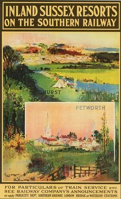 Southern Railway Midhurst Petworth Sussex Railway Poster