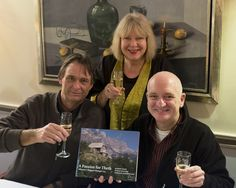 Book launch 2014, The Hague, The Netherlands. Fltr photographer Hermand Zonderland, writers Gerda Mulder and Robert Elsie.