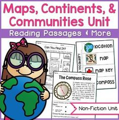 Exciting and engaging social studies materials to teach maps, communities, and continents!