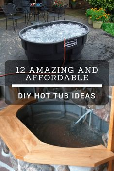 These easy backyard hot tub ideas are perfect for any DIY enthusiast! They're great for the patio or deck, and are also pretty affordable. #diy #projects #backyard #hottub #hottubideas