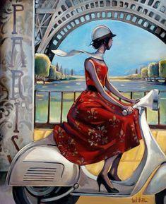 Trish Biddle © 2010 Vespa Red Dress
