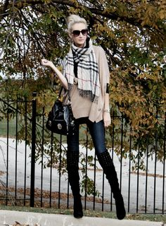 Love her style :) Gorgeous & inspiring girl - full details→ rhondafashionstyl. Preppy Style, Her Style, Fall Winter Outfits, Autumn Winter Fashion, Street Chic, Street Style, Burberry Outlet, Style Personnel, Burberry Scarf