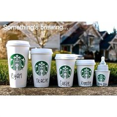 TODAY  A creative use for all of those cup sizes at Starbucks if your family is growing.