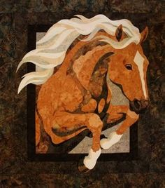 "My latest quilt pattern is named ""Royal"", he is (was) my own horse who I rescued from the meat market at three years old and who now has a wonderful home here in Montana with a very adoring ""Mom"". Patterns will be available in the spring at Bigfork Bay Cotton Company or www.bigforkbaycottonco.com"