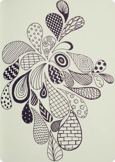 Embroidery, colouring in, funky doodle art #zentangle