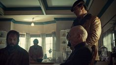 "Fargo 2x01 ""Waiting for Dutch"" - Dodd Gerhardt (Jeffrey Donovan), Bear Gerhardt (Angus Sampson) & Otto Gerhardt (Michael Hogan)"