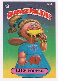 Garbage Pail Kids Series 6 (223b)- Lily Popped