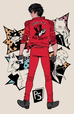 PERSONA 5 x AKIRA Collab print with @diastrons! It will be available at Anime Expo, table L23 in Artist Alley!