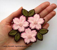large cherry blossom brooch