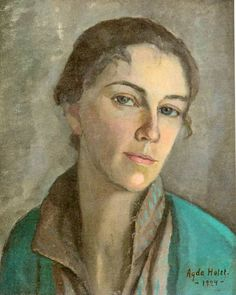 Agda Holst (Swedish, 1886–1976), Self-portrait, 1924.
