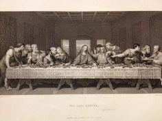 1850s Bible Engraving - The Last Supper - Leonardo Da Vinci - Freeman - Blackie