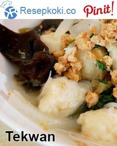 Resep Tekwan Ala Resep Koki Indonesian Food, Indonesian Recipes, Siomai, Asian Recipes, Ethnic Recipes, Dessert Recipes, Desserts, Potato Salad, Palembang