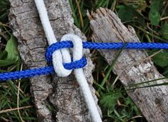 We love this knot because it is great for those times when you need to make a structure for a tarp to lie on top of or you need to tie multiple items to a line and be assured they will not slip back and forth... plus... it's not too bad to look at either!