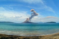 Mount Krakatoa, West Java.