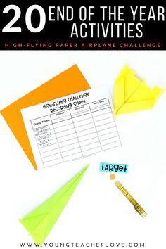 20 End of the Year Activities: High-Flying Paper Airplane Challenge - Young Teacher Love by Kristine Nannini End Of Year Activities, Stem Activities, Morning Activities, 5th Grade Classroom, Middle School Classroom, Classroom Procedures, Classroom Ideas, Last Day Of School, High School