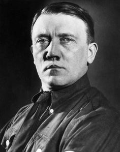 Historic figure Adolf Hitler without mustache -- If only this had been his only experiment...