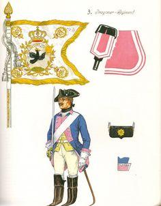 Prussia; Dragoon Regtiment Nr.3,c 1757 by G.Donn