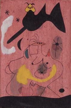 Joan Miró, L'Oiseau-nocturne (Nocturnal Bird), 1939 on ArtStack moloch illuminati satanist Hieronymus Bosch, Pablo Picasso, Spanish Painters, Spanish Artists, Nocturne, Joan Miro Pinturas, Abstract Expressionism, Abstract Art, Abstract Landscape