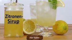 Zitronensirup auf Vorrat - Rezept von Lila Kuchen Pint Glass, Cocktails, Beer, Mugs, Tableware, Food, Youtube, Ice Cream Flavors, Juice
