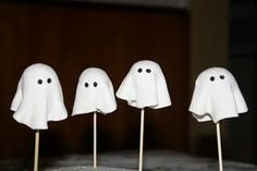 ghost marshmallows in chocolate