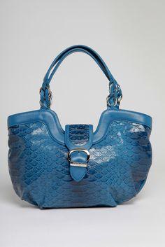 643ae1dfe466 Barbara Milano Leather Croc Print Shoulder Bag