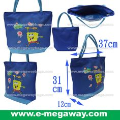 #SpongBob #Squarepants #Fans #Licensed #Characters #Tote #ShoulderBag #Blue #Kids #Girls #Play #Toys #Wear #Stationery #Megaway #MegawayBags #CC-1288-8318