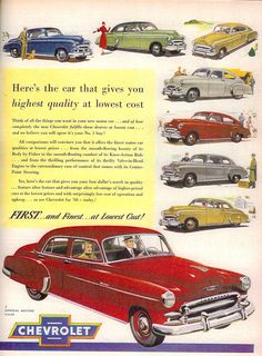 vintage advertising for chevrolet work coupe 1950 - Google Search