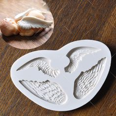angel wing fondant silicone molds for decorating cake #LXYY